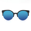 Topfoxx Sunglasses Retro Round Electric Blue