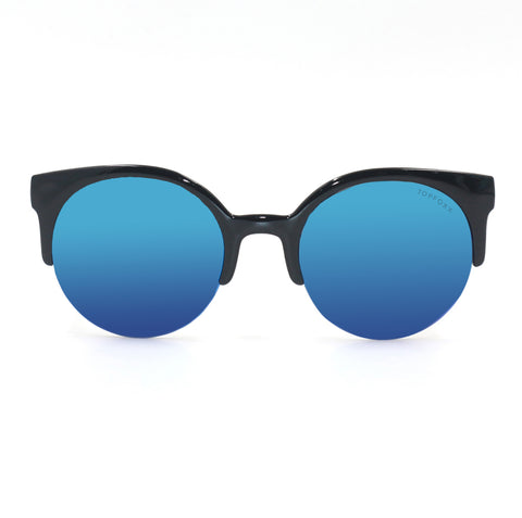 Retro round Sunnies - Electric Blue