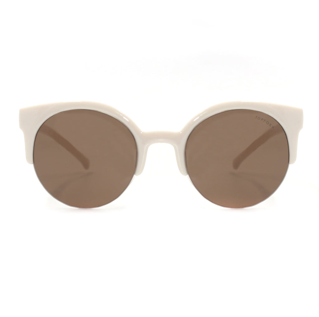 Retro round Sunnies - Mocha Brown