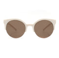 Topfoxx Sunglasses Retro Round Mocha Brown