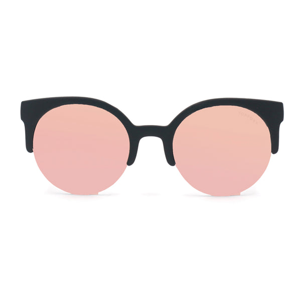 Topfoxx Sunglasses Retro Round Rose Gold