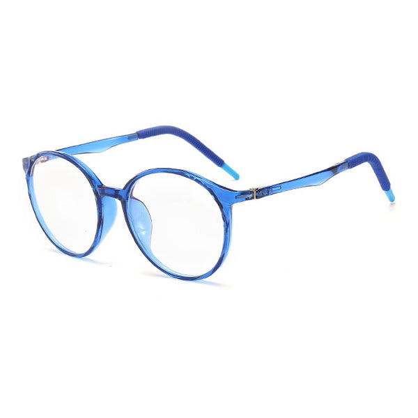 Topfoxx Kids Blue Light Blockers Round Lens Style Einstein Blue