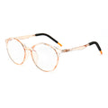 Topfoxx Kids Blue Light Blockers Round Lens Style Einstein Peach