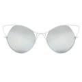 Topfoxx Sunglasses Indecent Cateye Silver Lens White Frame