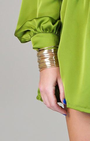 "Jewelry - ""Dripping In Gold"" - Gold - Cuff Bracelet"