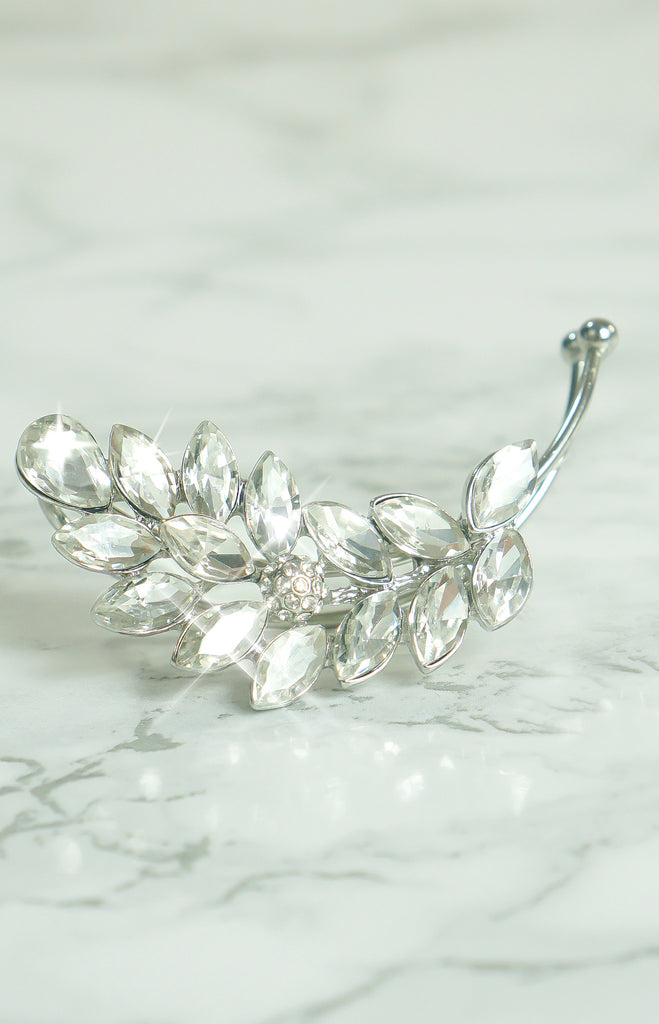 "Jewelry - "" Ice Breaker"" - ClearCrystal/Silver - Ear Cuff"