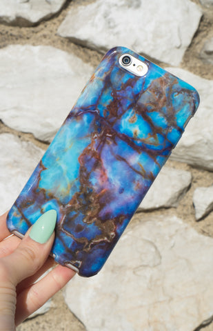 """ Lemurian"" Blue Marble - Iphone Case"