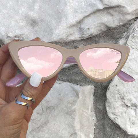 Matrix Sunnies - Tan/ Polarized Peach Mirror - TopFoxx