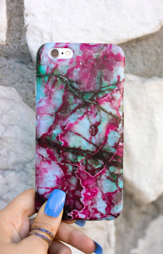 """  Pomegranate"" Marble - Iphone Case - TopFoxx"