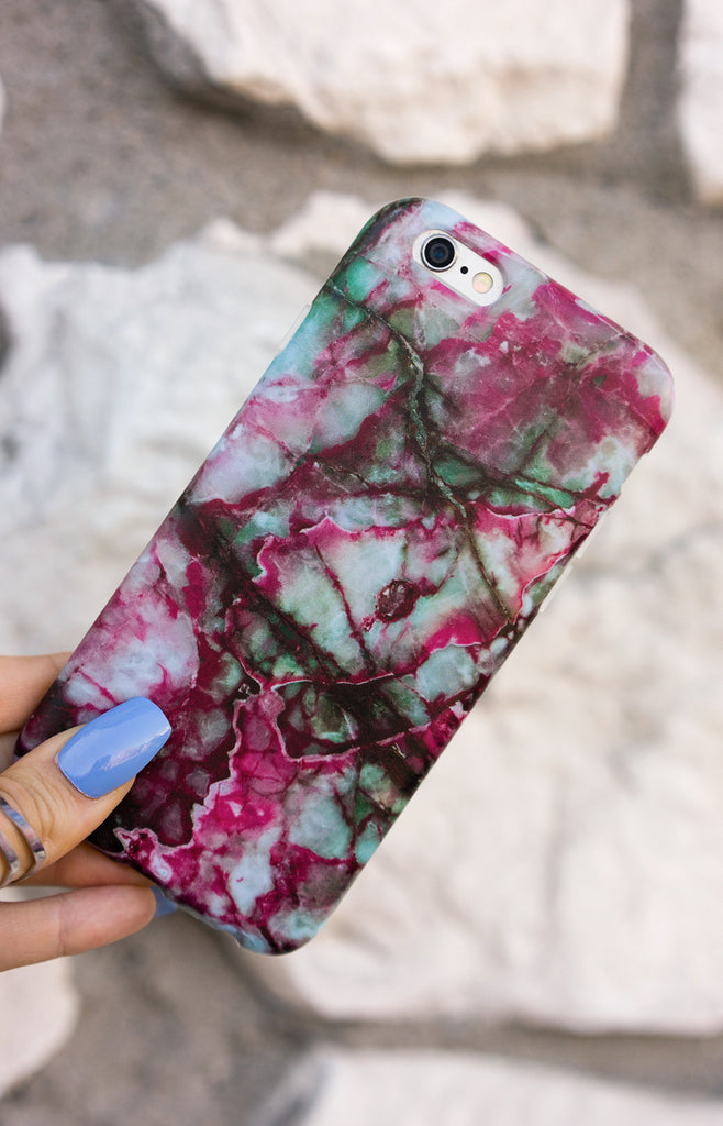 """  Pomegranate"" Marble - Iphone Case"