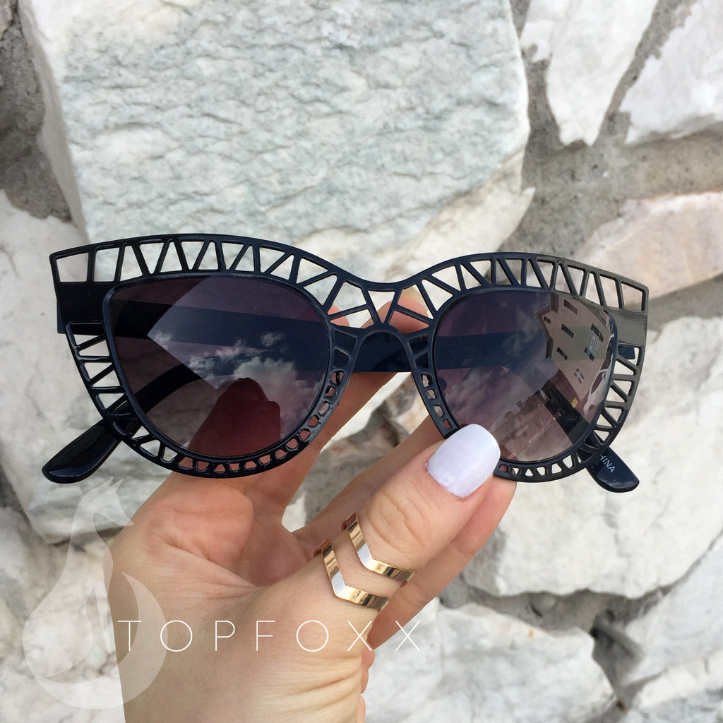 TopFoxx Sunnies - Black/Black