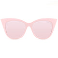 Topfoxx Women's Trendy Bestselling Cat Eye Sunglasses New York Venice Cateye Pink Frame Rose Gold Lens