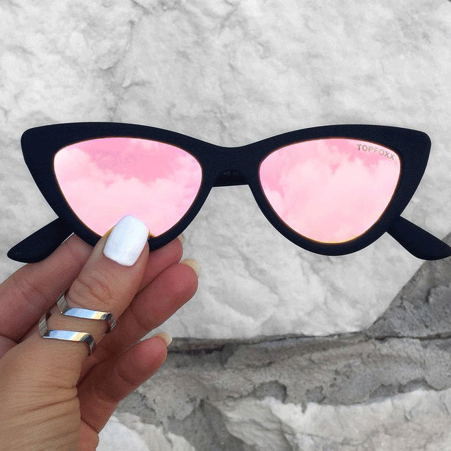Matrix sunnies - Matte Black/ Polarized Rosegold - TopFoxx