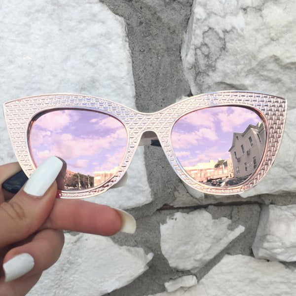 Topfoxx Sunglasses Selena Cat Eye Rose Gold