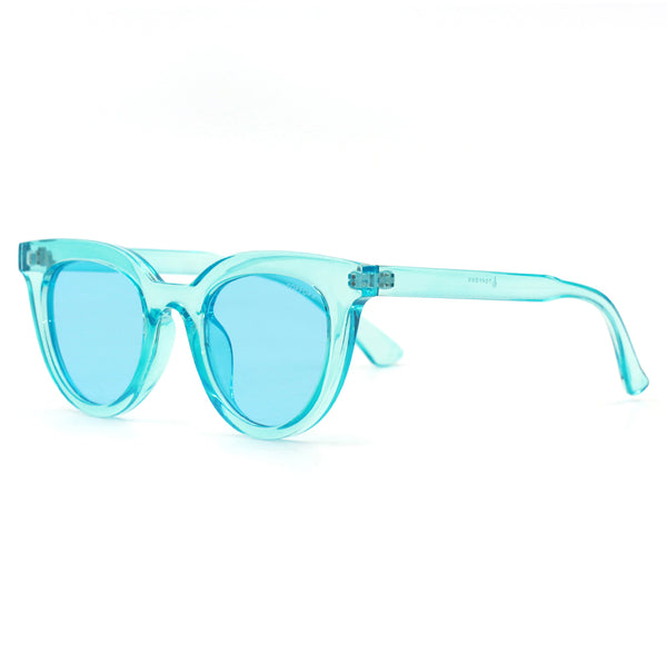 Topfoxx Sunglasses Brittany Coral Blue Crystal Frame