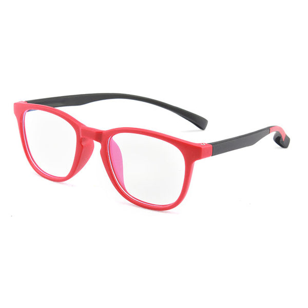 Topfoxx Kids Blue Light Blockers Wayfarer Style Dexter Red