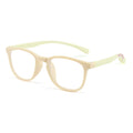 Topfoxx Kids Blue Light Blockers Wayfarer Style Dexter Tan Yellow