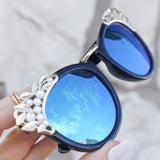Grace Sunnies - Black/Blue