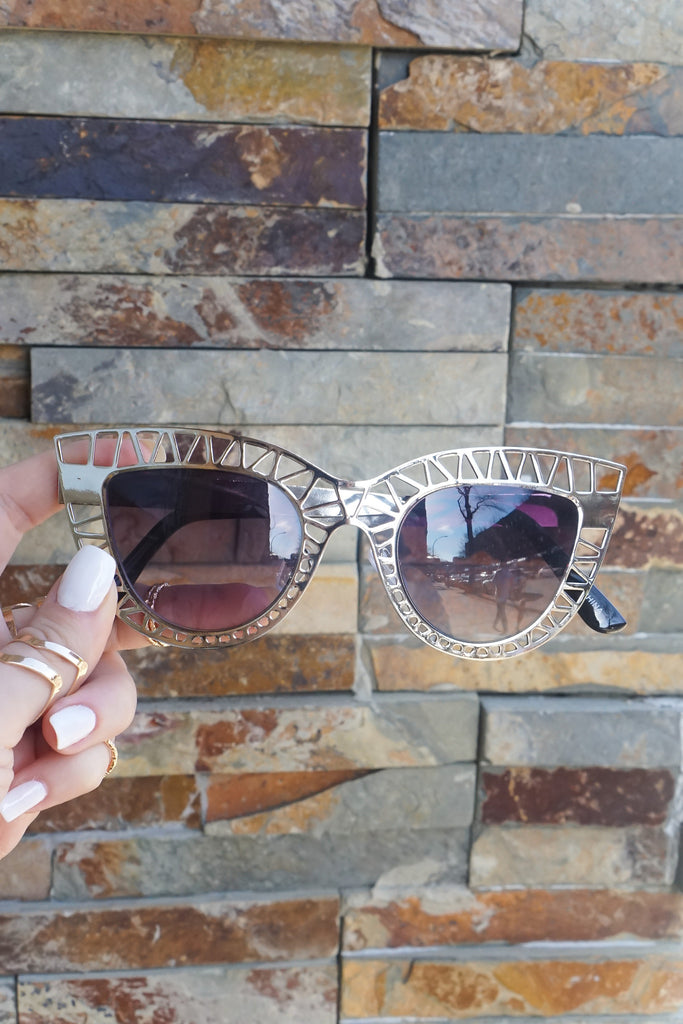 "Sunglasses - ""TopFoxx"" Sunnies - Silver/Black"