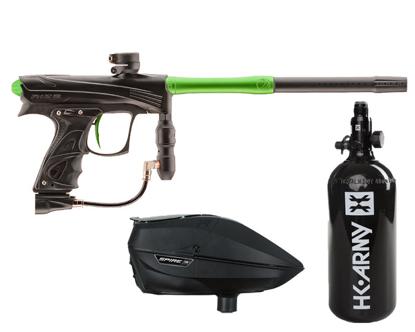 Dye Rize CZR Paintball Marker Gun Black Lime Package Black IR
