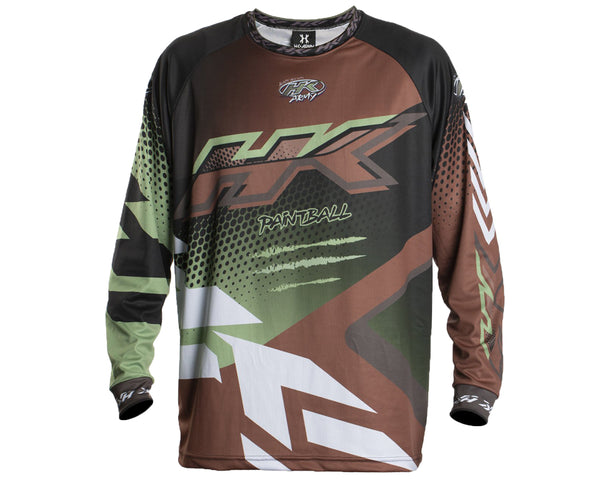 HK Army Retro Paintball Jersey Edge Brown Olive 2XL