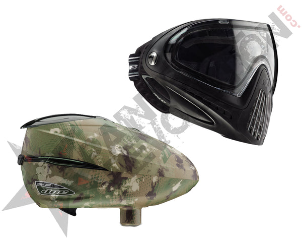 Dye Precision I4 R2 Paintball Mask Loader Combo Black Dyecam