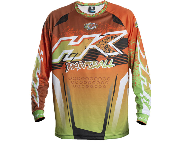 HK Army Retro Paintball Jersey Liquid Orange Lime 2XL