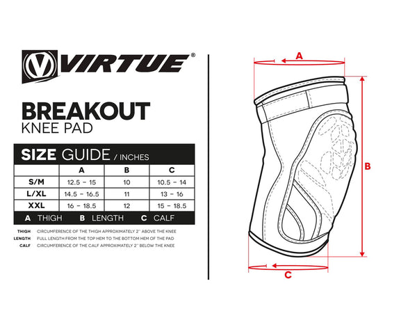 Virtue Breakout Paintball Knee Pads L/XL
