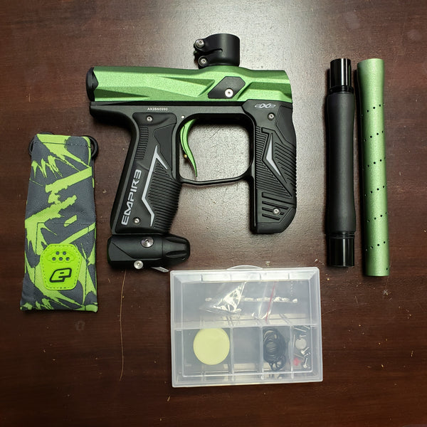 USED Empire Axe 2.0 Paintball Marker Gun Dust Black and Green