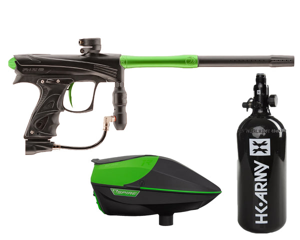 Dye Rize CZR Paintball Marker Gun Black Lime Package Lime IR