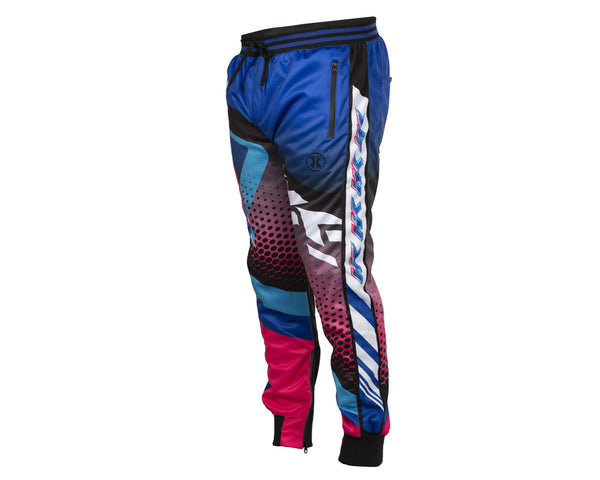 HK Army Retro Track Jogger Pants Blue Pink Size XL