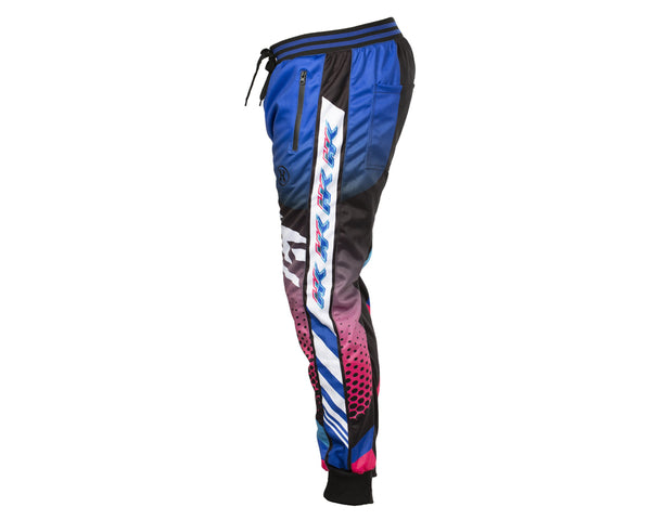 HK Army Retro Track Jogger Pants Blue Pink Size XXL