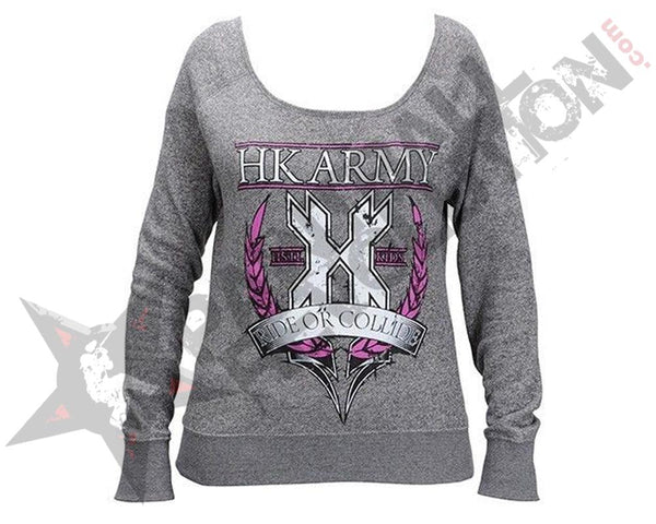 HK Army Sweater Girls Crest Grey - S - S - S - S - S