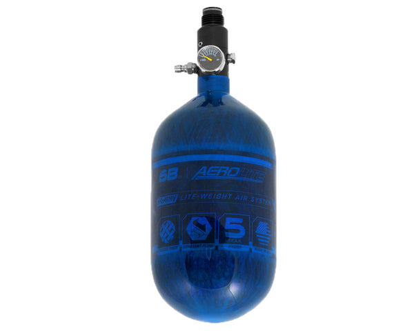 HK Army Aerolite 68/4500 Carbon Fiber Paintball HPA Air Tank Blue