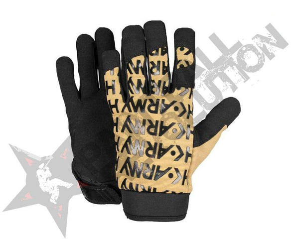 HK ARMY HSTL GLOVES TAN BLACK  L