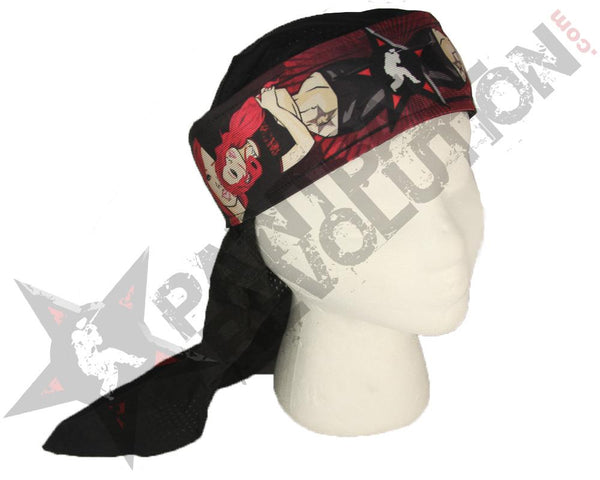 Paintball Revolution Headwrap Lucy Red