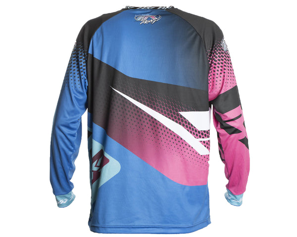 HK Army Retro Paintball Jersey Edge Blue Pink 2XL