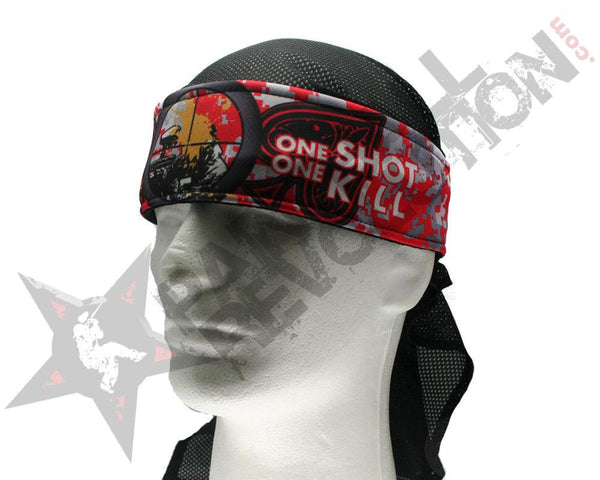 Paintball Revolution Headwrap Sniper Style Red