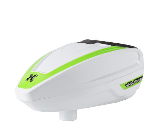 HK Army TFX 2 Paintball Hopper Loader White Neon Green