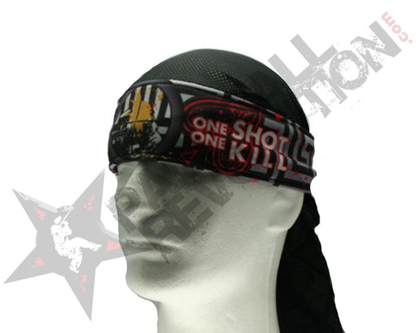 Paintball Revolution Headwrap Sniper Style Grey