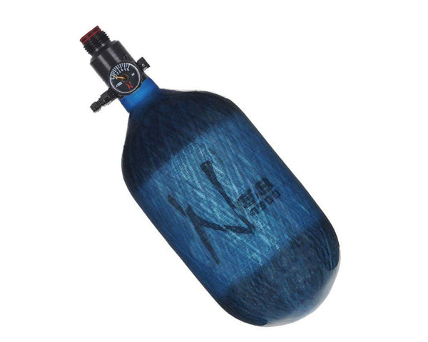 Ninja Lite Translucent Blue Carbon Fiber Air Tank 68/4500 w Standard Adjustable Reg