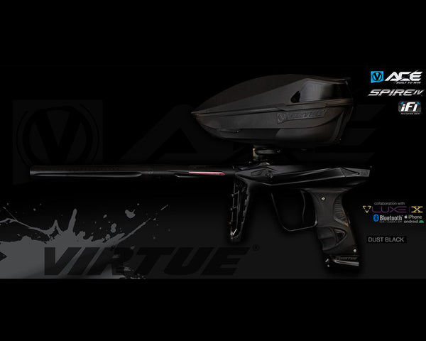 Virtue Ace Paintball Marker w Spire IV Loader Dust Black