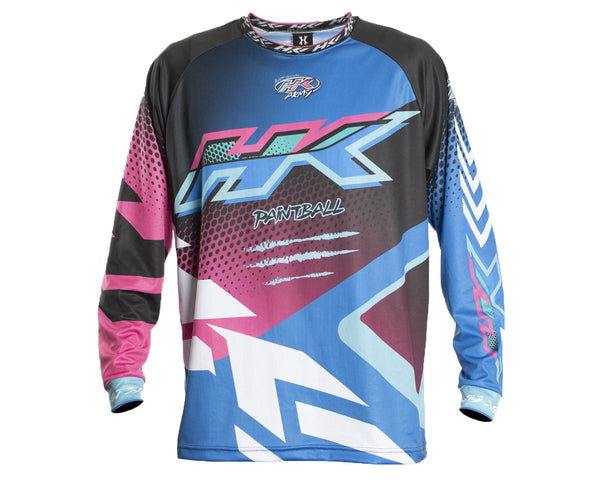 HK Army Retro Paintball Jersey Edge Blue Pink XL