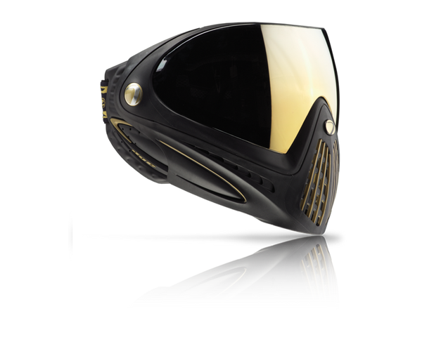Dye Precision i4 Paintball Mask Goggles Black Gold Thermal