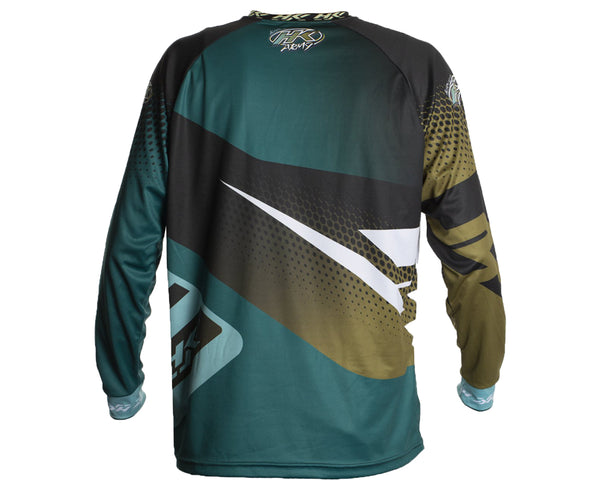 HK Army Retro Paintball Jersey Edge Aqua Gold 2XL