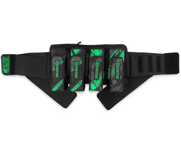 Virtue Elite Paintball Harness Graphic Lime 4+7
