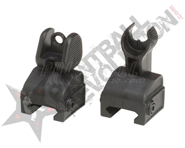 Empire BT Front Rear Flip Sight Black
