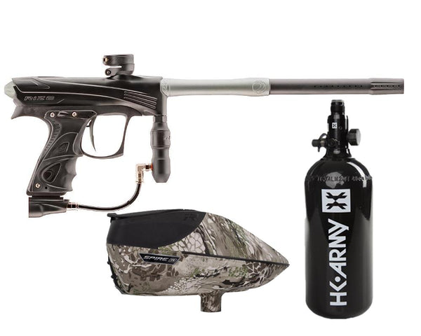 Dye Rize CZR Paintball Marker Gun Black Grey Package Highlander IR