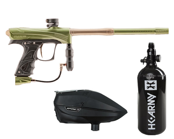 Dye Rize CZR Paintball Marker Gun Olive Tan Package Black IR