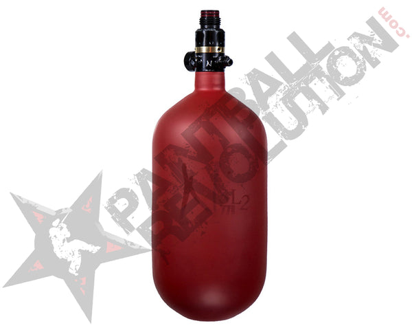 Ninja SL2 Red Cerakote Old Hydro Carbon Fiber Air Tank 77/4500 w Standard Adjustable Reg